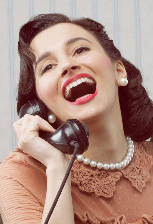 telefoon juffrouw bij Radio President